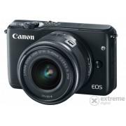 Kit aparat foto Canon EOS M10 (cu obiectiv 15-45mm), negru
