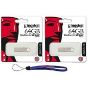 Kingston Digital 64 Gb (Two Pack) 64Gb Datatraveler Se9 G2 Usb 3.0 Flash Jump Pen Drive (Dtse9G2/64Gb) With Everything B