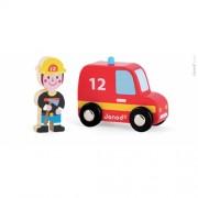 Set povestea mea - Pompieri - masina de pompieri & pompier - Janod (J08568)