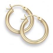 """14K Gold Hoop Earrings - 3/4"""" diameter (3mm thickness)"""