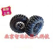 Generic 96mm 1:10 Black Smart Car Rubber Wheels Bigfoot Big Foot Car Wheel Tire Car Chassis Parts