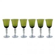 Jogo de 6 Taças Para Vinho Verde Ref: 9082