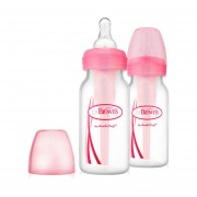 Dr. Brown´s Standaardfles Duo-pack 120 ml Roze