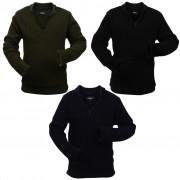 vidaXL Men's Work Pullovers 3 pcs Navy/Army Green/Black Size XL