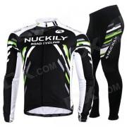 NUCKILY MC005 MD005 Ciclismo de Hombre de manga larga Jersey + Pants Set - Negro + Multi-Color (XXL)