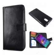 Detachable 2 in 1 Magnetic Wallet Case for Samsung Galaxy Note 4
