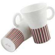 Metier Designer Bone China Mug Set of 2 Pcs