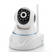 Camera de securite IP - HD / Sans-fil / PT / Filtre IR / Detecteur de mouvement / Vision nocturne / Supporte les telephones mobiles