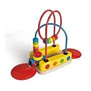 Hape HAP-E3811 Bead Maze Rainbow Track Toy