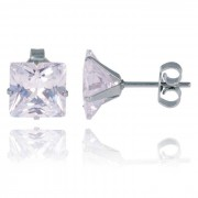 LGT Jewels Stud oorbellen Edelstaal Classic Transparent 4mm
