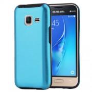 MOTOMO for Samsung Galaxy J1 Mini(2016) / J105 Brushed Texture Metal + TPU Protective Case(Blue)