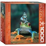 Eurographics 8 x 8 pollici Red Box Eyed Tree Frog MO Puzzle (1000 Pezzi)