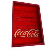 Porta Chaves Coca Cola Madeira Vermelha