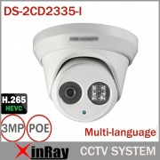 Hikvsion 3MP IP POE Camera DS-2CD2335-I Replace DS-2CD2332-I ONVIF Infrared Camera Metal Body CCTV IP Camera with 6mm Lens