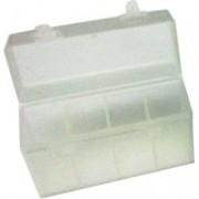 Estuche organizador para 4 Pilas 9V Blanco Transparente
