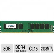 DDR4, 8GB, 2133MHz, Crucial Unbuffered, CL15 (CT8G4DFD8213)