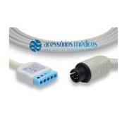 CABO TRONCO DE ECG 5 VIAS COMPATÍVEL BCI® (NQA-E015) / Registro Anvisa 80787710012 - NQA-E015