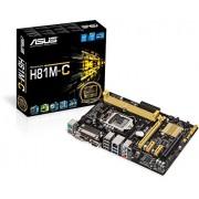 Asus Mod 1150 H81M-C (MATX/H81) Scheda Madre, Nero