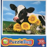 Baby Calf 100 Pc Jigsaw Puzzle New