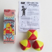 Set Of 3 Juggling Balls Circus Clown Jester Learn To Juggle Ball Magic Show Prop