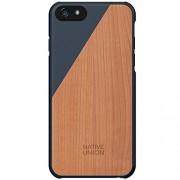 Husa Capac spate Luxury Clic Cherry Wood Albastru APPLE iPhone 6, iPhone 6S NATIVE UNION