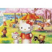 "Sanrio Characters 300 Piece Hello Kitty ""Sunday Island of La Grande Jatte"" 33-074 (japan import)"