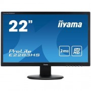 Monitor iiyama E2283HS-B1, 22'', LCD, 2ms, 5M:1, HDMI, repro