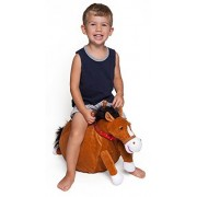 WALIKI TOYS Mr Jones: Small Plush Horse Hop Ball Hopper (Ages 3-5) Hopping Sit and Bounce with Handles by Waliki