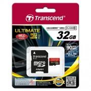Micro SD Card, 32GB, Transcend MICRO, Class10 UHS-I MLC 600x, 1xAdapter (TS32GUSDHC10U1)