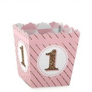 1st Birthday Girl - Fun to be One - Candy Boxes Party Favors (Set of 12)