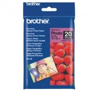 Brother BP-61GLP Premium Glossy Paper 20 Sheets, Size:102 X 152mm (4 x 6 Inches), Weight:190 gsm