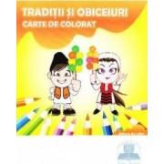 Traditii si obiceiuri Carte de colorat