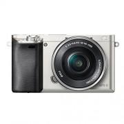 Sony ILCE-6000LS Appareil Photo Numérique Hybride, Capteur APS-C, 24,3 Mpix, Autofocus Ultra-Rapide, Viseur Intégré - Argent + Objectif 16-50 mm Rétractable