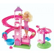 Barbie Slide & Spin Pups Playset