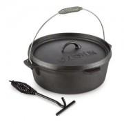 Klarstein Hotrod 60 öntöttvas fazék, barbecue fazék, 6 qt / 5,7 liter, öntöttvas, fekete