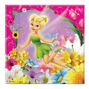 20 tovaglioli di carta Trilly Fairies Tinker Bell 33x33 cm