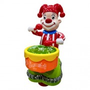 Blossom Happy Clown Toy for Kids With Sparkling Beautiful LED Lights, Music, Direction Changing Movements and Funny Drum Beats.