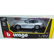 Macheta Dodge Viper SRT-10, argintiu, Bburago 1:24