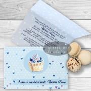 Invitatie botez Prajitura albastra