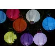 137148 Pack 5 lanterne in carta a led illuminazione interna ed esterna