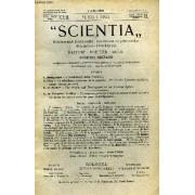Scientia, Year Xvii, Vol. Xxxiv, N° Cxxxv-7, Serie Ii, 1923, Rivista Internazionale Di Sintesi Scientifica, Revue Internationale De Synthese Scientifique, International Review Of Scientific ...