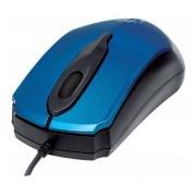 Mouse Manhattan Óptico Edge, Alámbrico, USB, 1000DPI, Azul/Negro