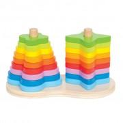 Hape Double Rainbow Stacking E0406