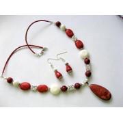 set coral alb si rosu 18148