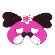 Pink Dog Childrens Foam Animal Mask