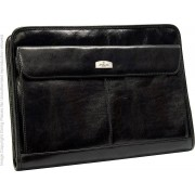 Babila Leather Folio - Conference Folder 7603li - Black