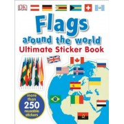 Ultimate Sticker Book: Flags Around the World, Paperback
