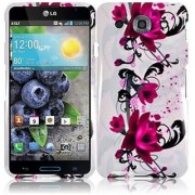 HR Wireless LG Optimus G Pro/E980 Design Protective Cover - Retail Packaging - Purple Lily