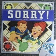 Sorry Retro Edition by Parker Brothers - The Classic Game of Sweet Revenge by Parker Brothers