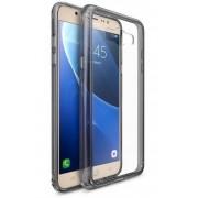 Husa Protectie Spate Ringke Fusion Smoke Black pentru Samsung Galaxy J7 2016 plus folie Invisible Screen Defender